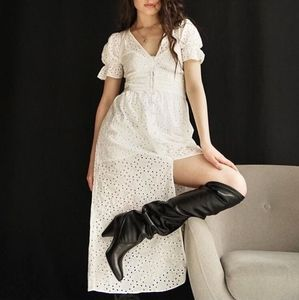 NWT, ZARA Embroidered Eyelet Dress